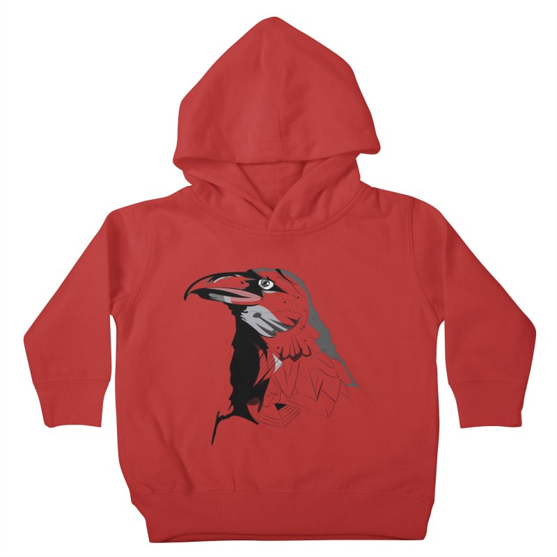 Crow Headshot Kids Toddler Pullover Hoody by Shirt For Brains