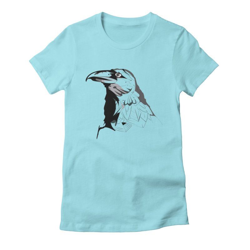 Crow Headshot Women's T-Shirt by Shirt For Brains