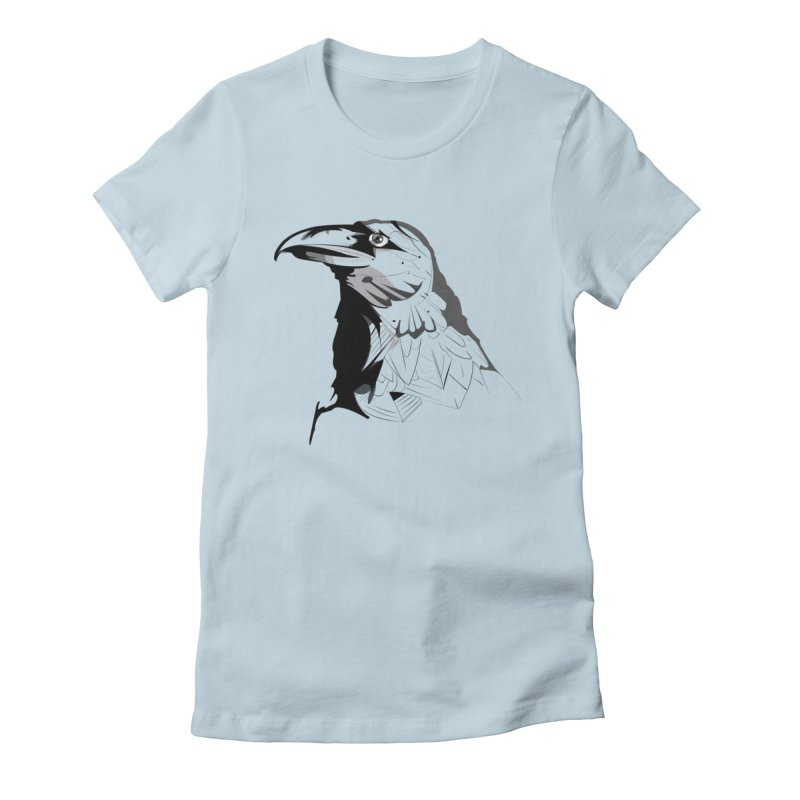 Crow Headshot Women's T-Shirt by Shirt For Brains