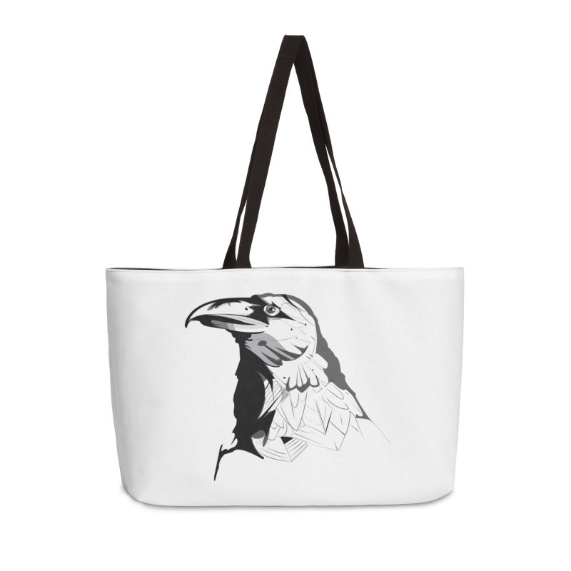 Crow Headshot Accessories Bag by Shirt For Brains