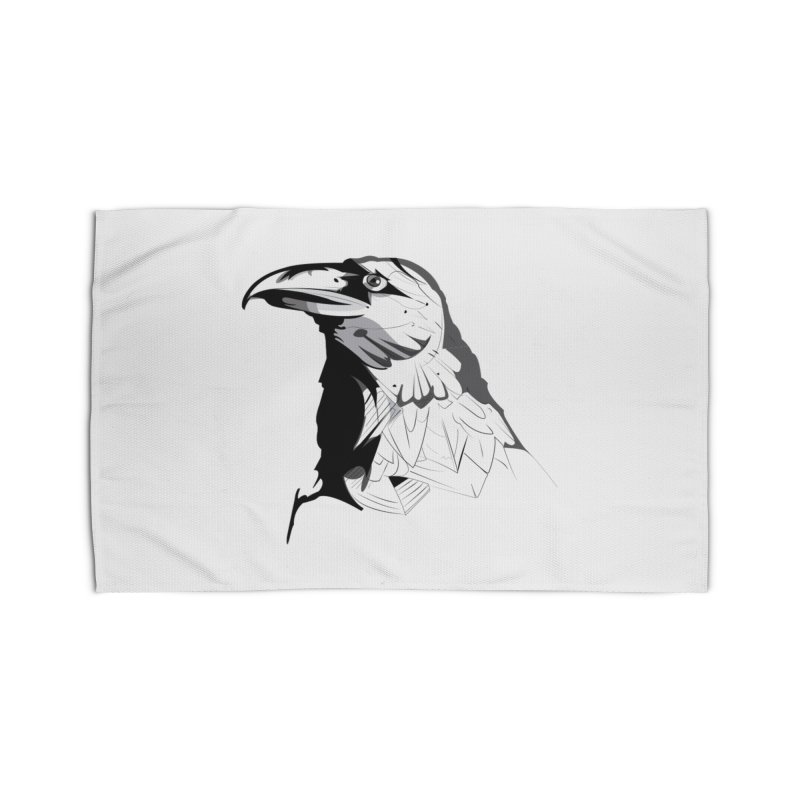 Crow Headshot Home Rug by Shirt For Brains