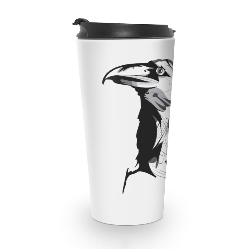 Crow Headshot Accessories Mug by Shirt For Brains