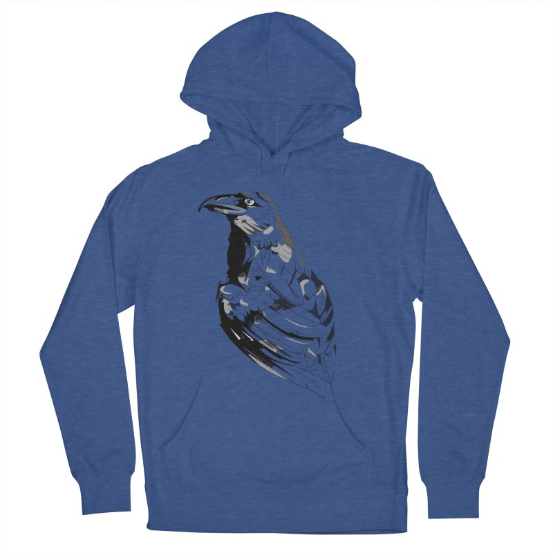 Crow Men's French Terry Pullover Hoody by Shirt For Brains