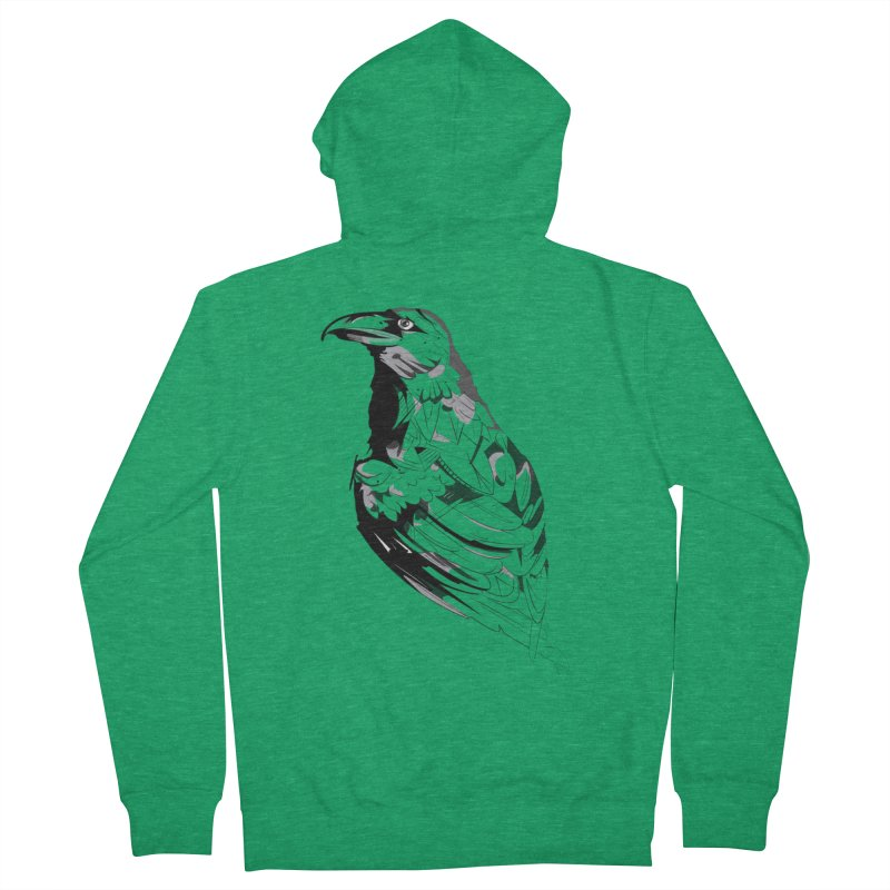 Crow Men's Zip-Up Hoody by Shirt For Brains