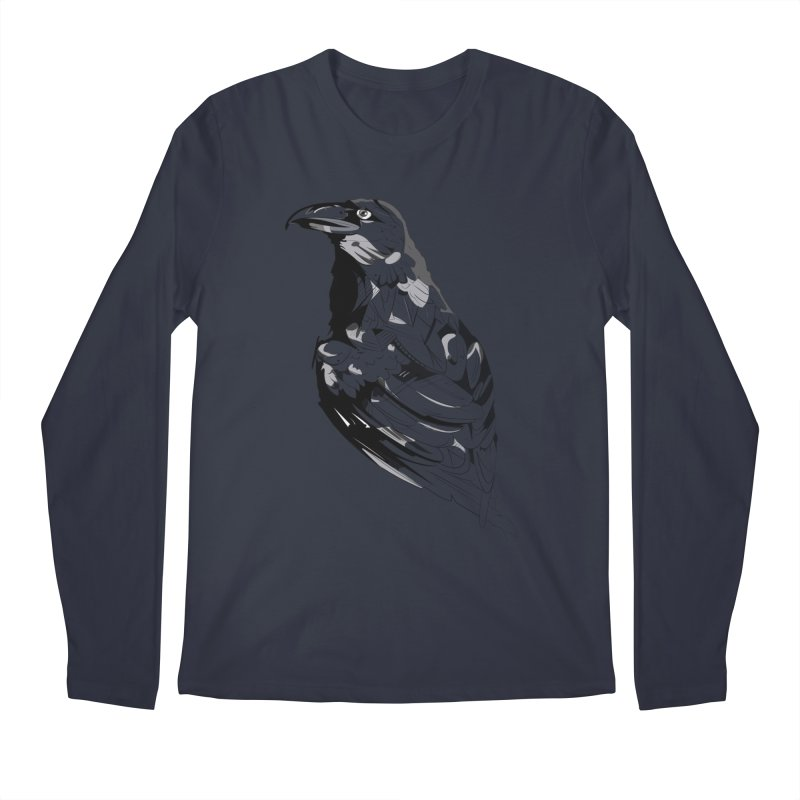 Crow Men's Regular Longsleeve T-Shirt by Shirt For Brains