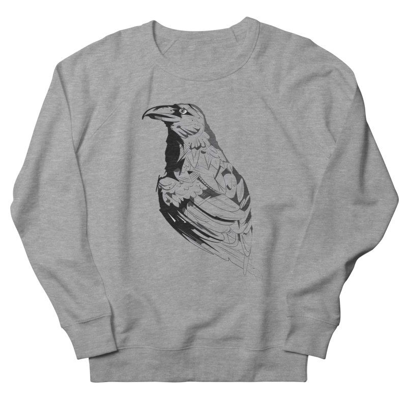 Crow Women's French Terry Sweatshirt by Shirt For Brains