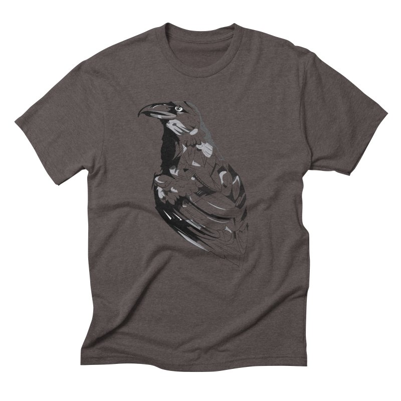 Crow Men's Triblend T-Shirt by Shirt For Brains