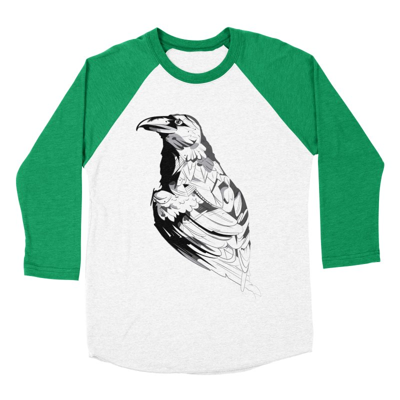 Crow Women's Baseball Triblend Longsleeve T-Shirt by Shirt For Brains