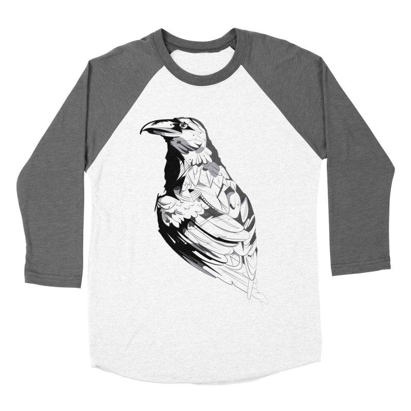 Crow Men's Baseball Triblend Longsleeve T-Shirt by Shirt For Brains