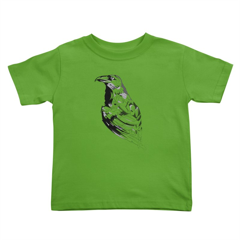 Crow Kids Toddler T-Shirt by Shirt For Brains