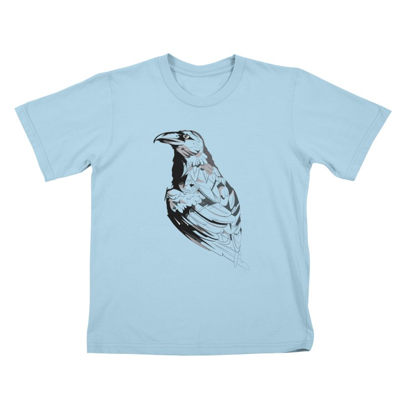 Crow Kids T-Shirt by Shirt For Brains