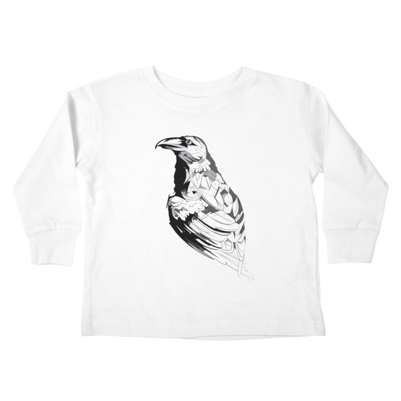 Crow Kids Toddler Longsleeve T-Shirt by Shirt For Brains