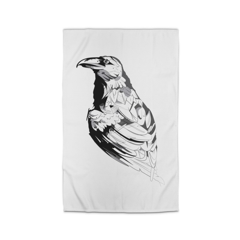 Crow Home Rug by Shirt For Brains
