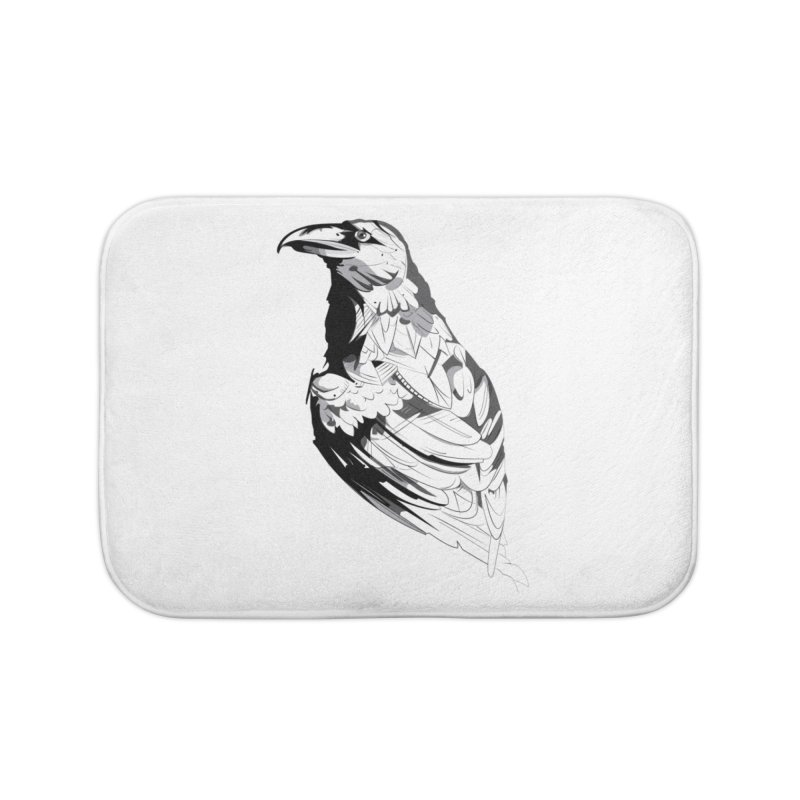Crow Home Bath Mat by Shirt For Brains