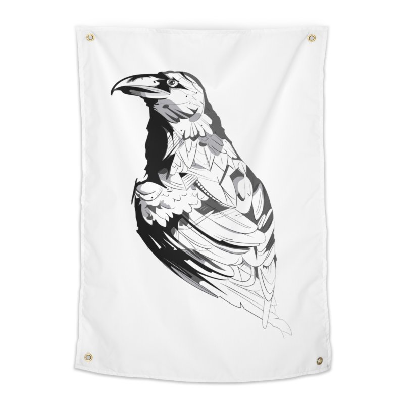 Crow Home Tapestry by Shirt For Brains