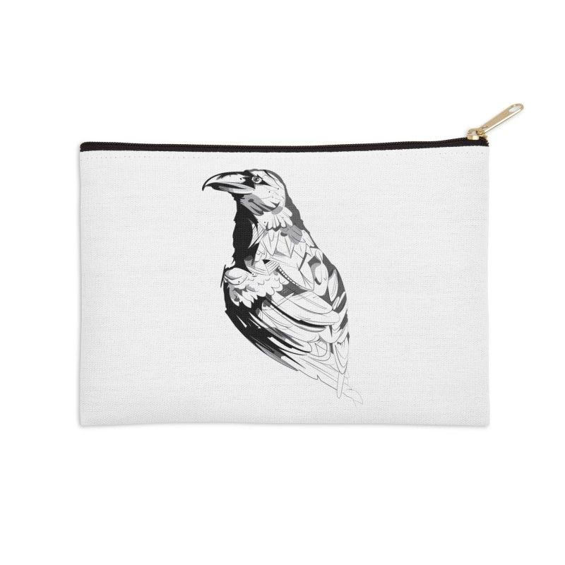 Crow Accessories Zip Pouch by Shirt For Brains