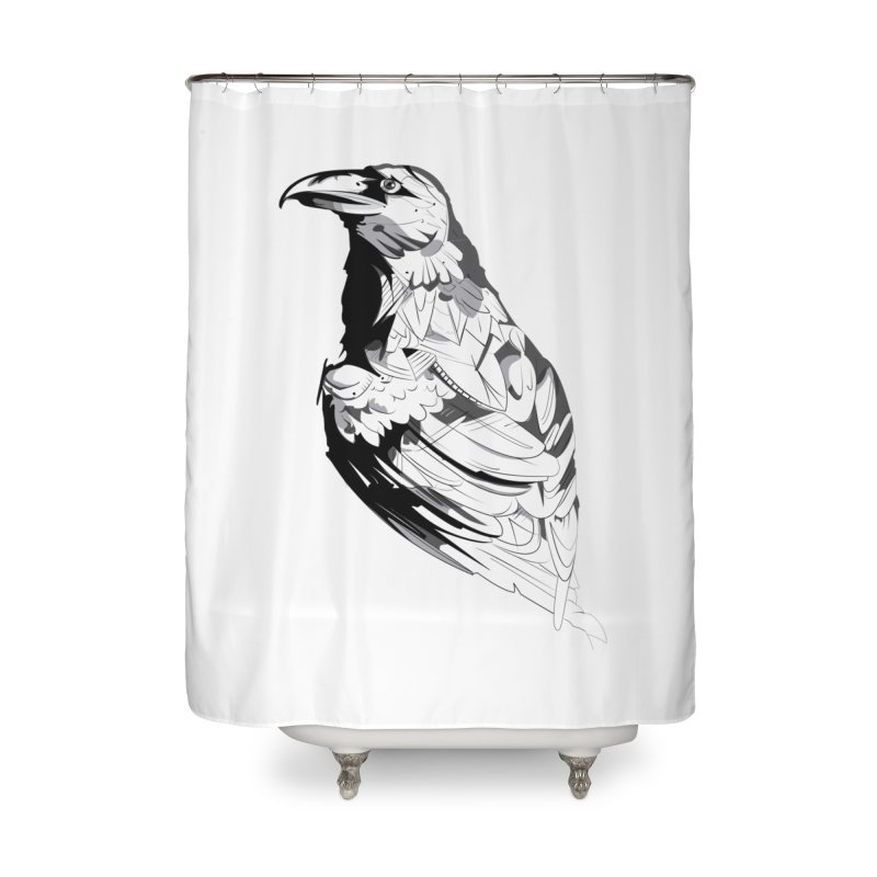 Crow Home Shower Curtain by Shirt For Brains