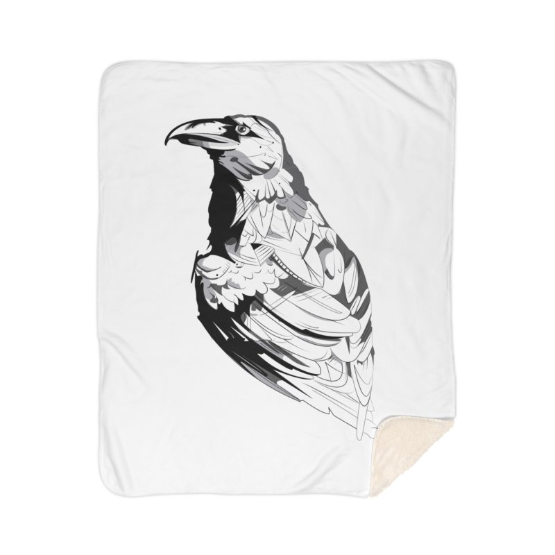 Crow Home Sherpa Blanket Blanket by Shirt For Brains