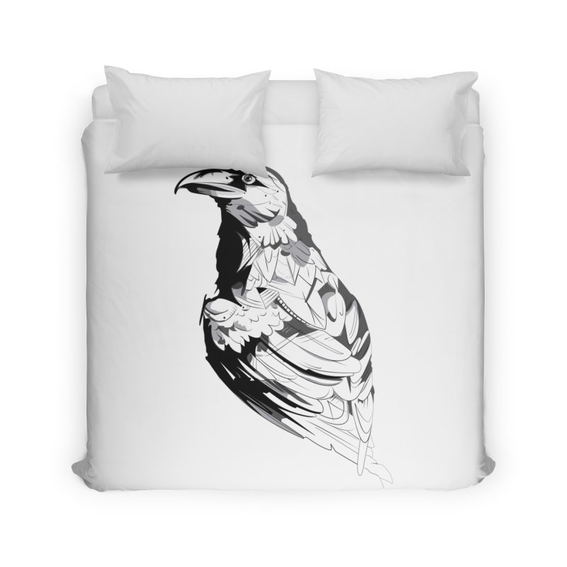 Crow Home Duvet by Shirt For Brains