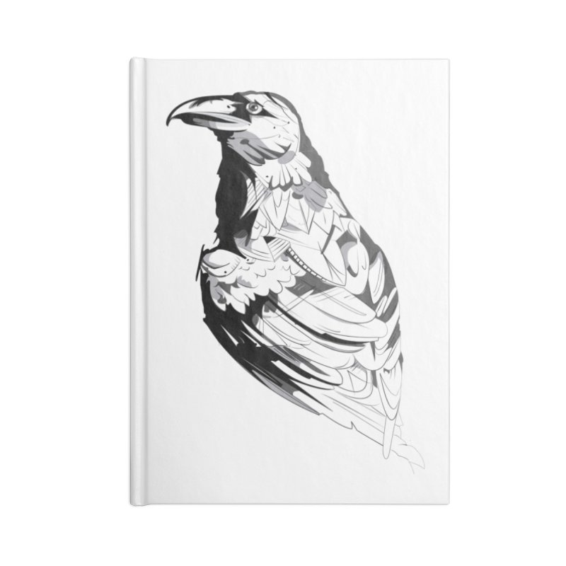 Crow Accessories Notebook by Shirt For Brains
