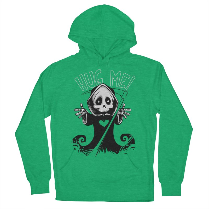 Hug Me To Death Women's French Terry Pullover Hoody by Shirt For Brains