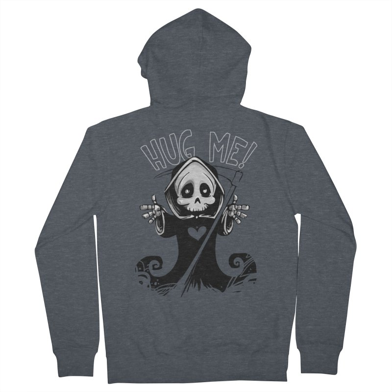 Hug Me To Death Women's French Terry Zip-Up Hoody by Shirt For Brains
