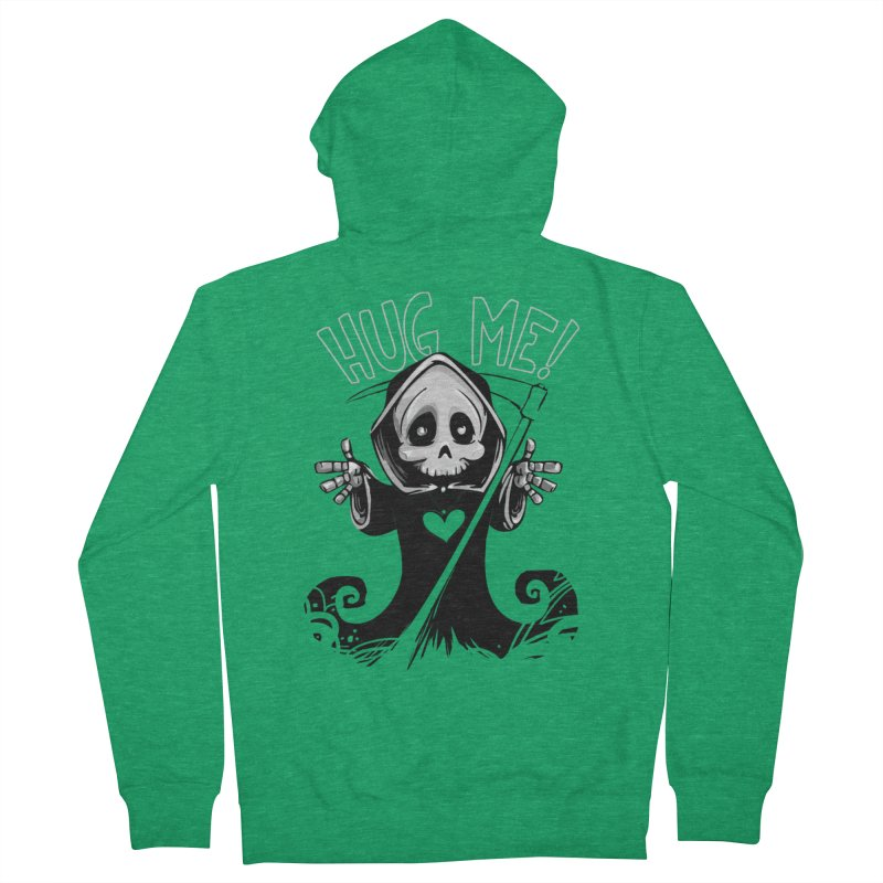 Hug Me To Death Men's Zip-Up Hoody by Shirt For Brains