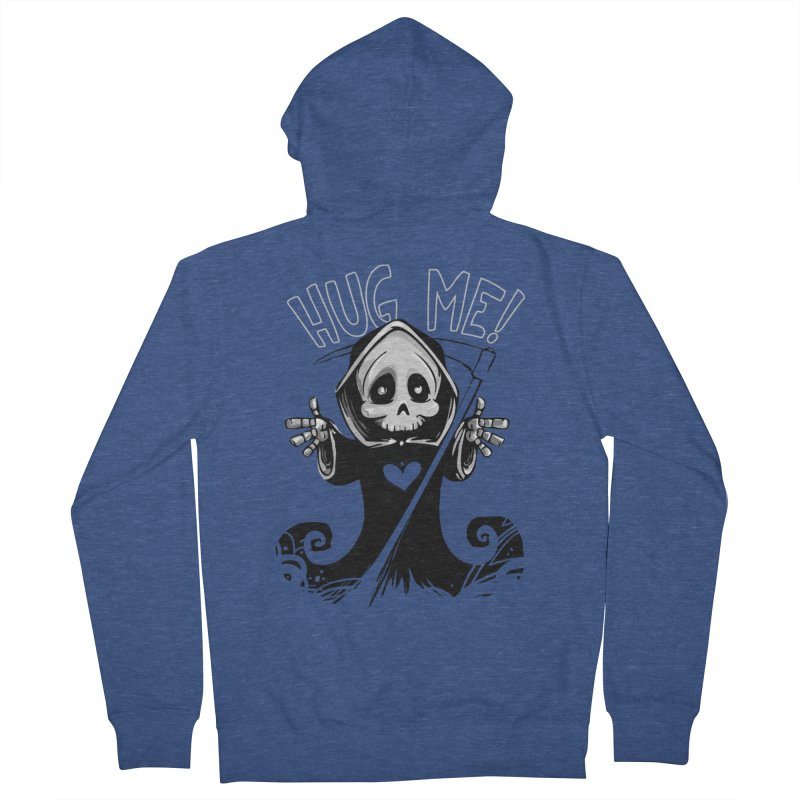 Hug Me To Death Men's French Terry Zip-Up Hoody by Shirt For Brains