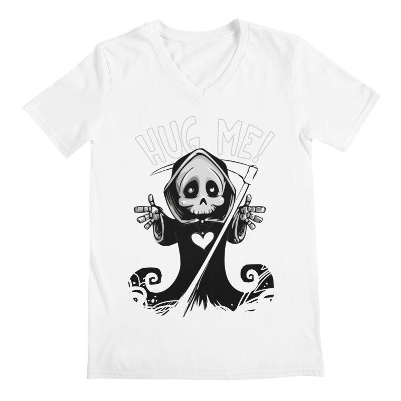 Hug Me To Death Men's Regular V-Neck by Shirt For Brains
