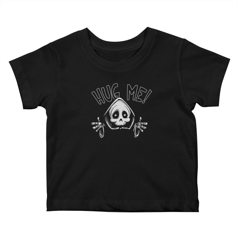 Hug Me To Death Kids Baby T-Shirt by Shirt For Brains