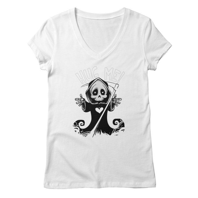Hug Me To Death Women's V-Neck by Shirt For Brains