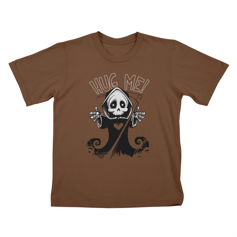 Hug Me To Death Kids T-Shirt by Shirt For Brains