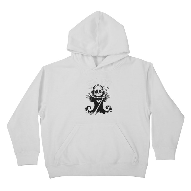 Hug Me To Death Kids Pullover Hoody by Shirt For Brains