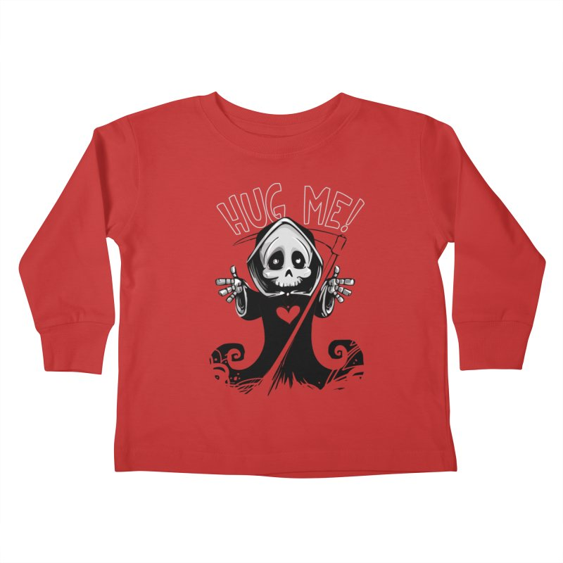 Hug Me To Death Kids Toddler Longsleeve T-Shirt by Shirt For Brains
