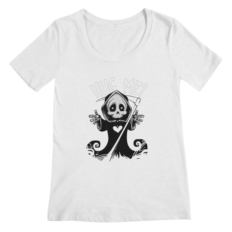 Hug Me To Death Women's Regular Scoop Neck by Shirt For Brains