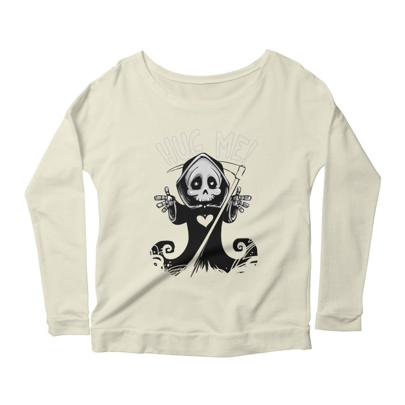 Hug Me To Death Women's Scoop Neck Longsleeve T-Shirt by Shirt For Brains