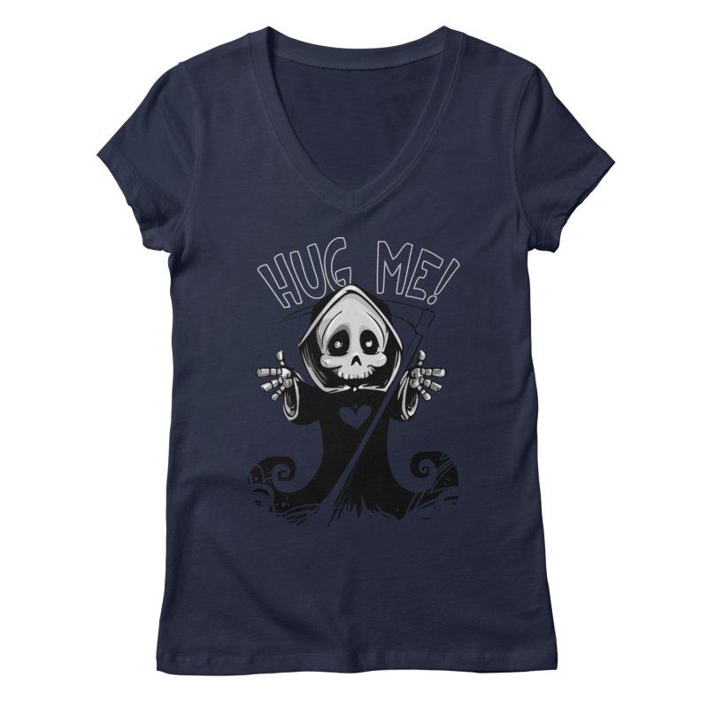 Hug Me To Death Women's Regular V-Neck by Shirt For Brains