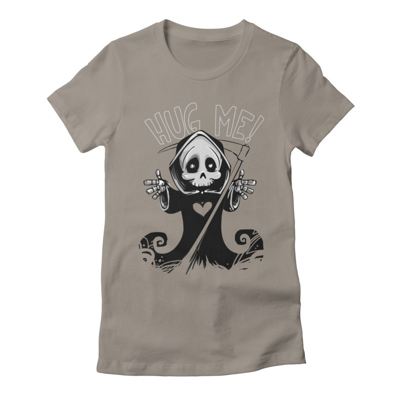 Hug Me To Death Women's Fitted T-Shirt by Shirt For Brains