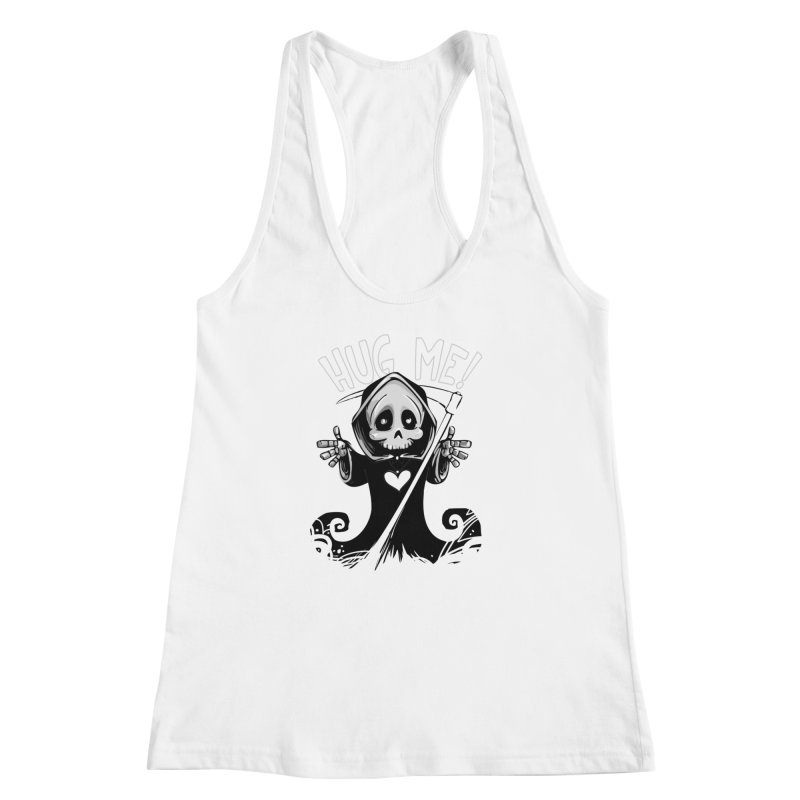 Hug Me To Death Women's Racerback Tank by Shirt For Brains