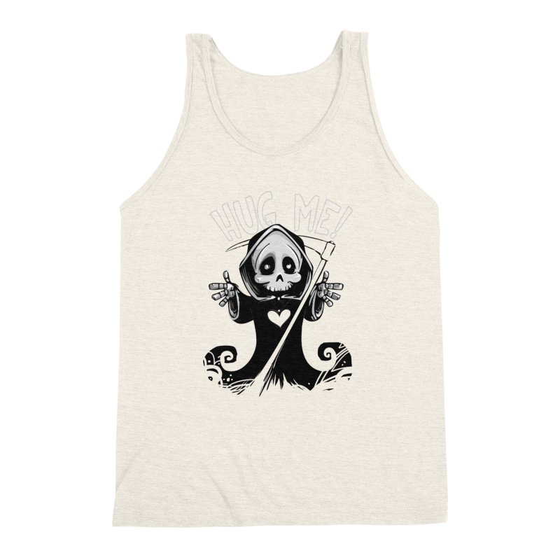 Hug Me To Death Men's Triblend Tank by Shirt For Brains