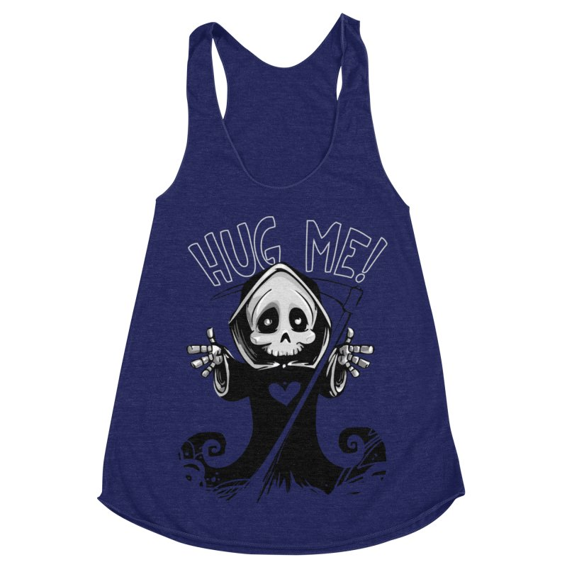 Hug Me To Death Women's Racerback Triblend Tank by Shirt For Brains