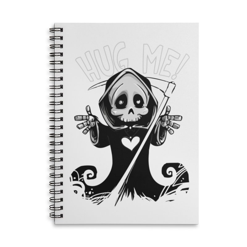 Hug Me To Death Accessories Notebook by Shirt For Brains