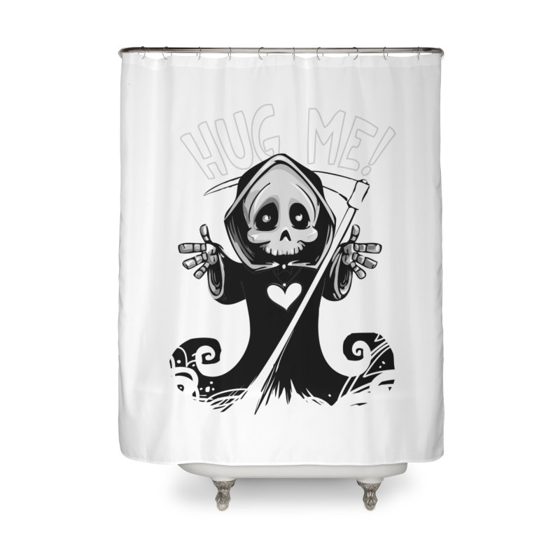 Hug Me To Death Home Shower Curtain by Shirt For Brains