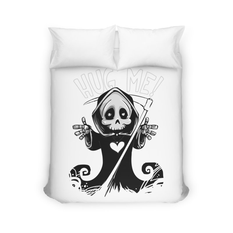 Hug Me To Death Home Duvet by Shirt For Brains