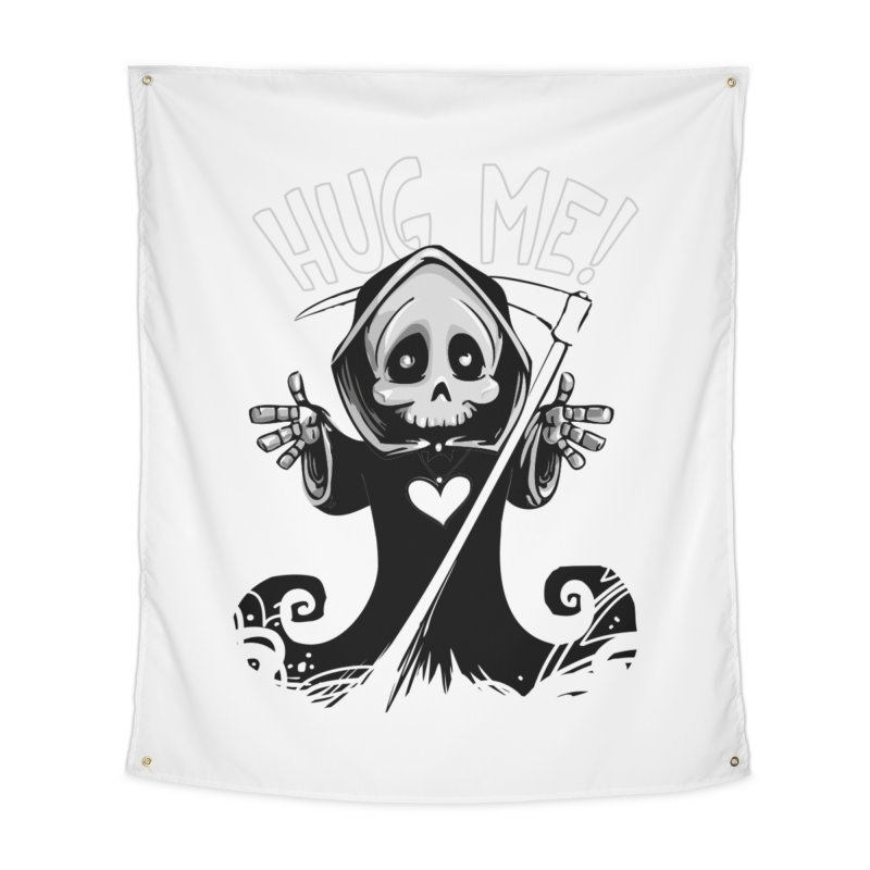 Hug Me To Death Home Tapestry by Shirt For Brains