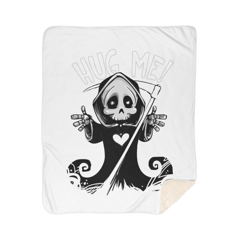 Hug Me To Death Home Sherpa Blanket Blanket by Shirt For Brains