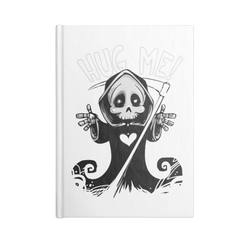 Hug Me To Death Accessories Lined Journal Notebook by Shirt For Brains