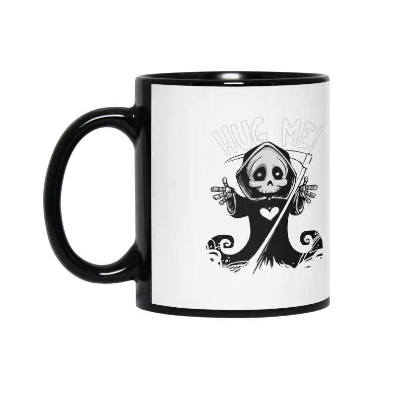 Hug Me To Death Accessories Mug by Shirt For Brains