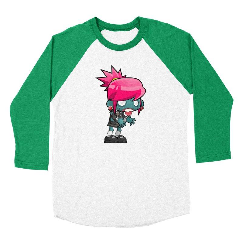 Zombie Girl Men's Baseball Triblend Longsleeve T-Shirt by Shirt For Brains