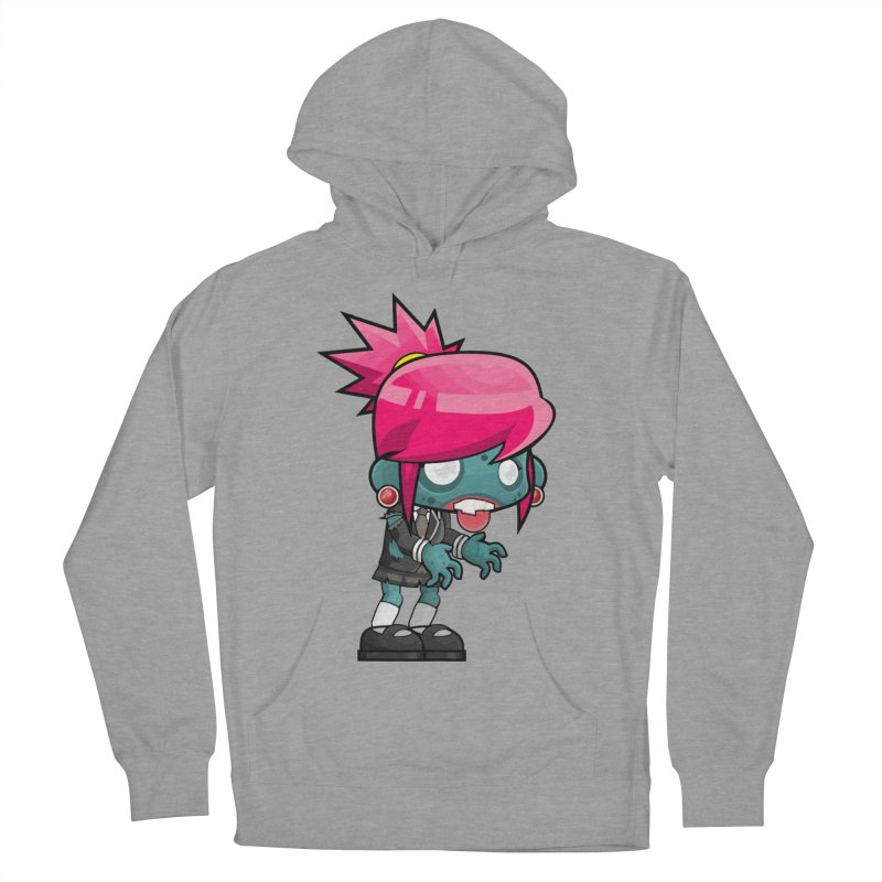 Zombie Girl Women's French Terry Pullover Hoody by Shirt For Brains